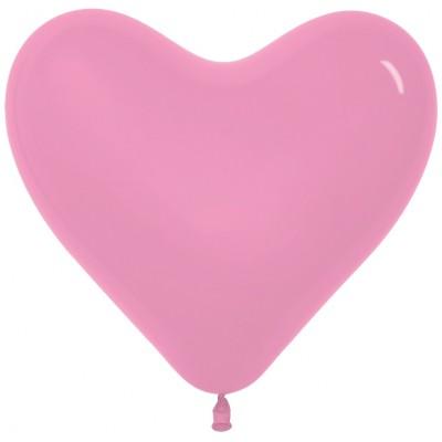 Воздушный шар- сердце розовый пастель (30 см)