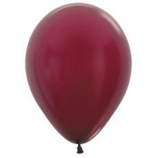 Воздушный шар бургундия металлик (30 см)