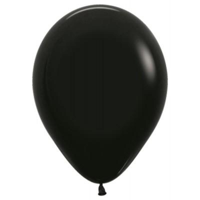 Воздушный шар черный пастель (30 см)