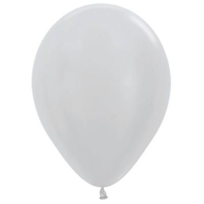 Воздушный шар серебро перламутр (30 см)