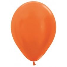 Воздушный шар оранжевый металлик (30 см)