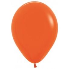 Воздушный шар оранжевый пастель (30 см)
