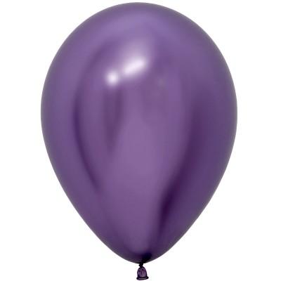 Воздушный шар Зеркальный блеск фиолетовый хром (30 см)