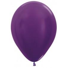 Воздушный шар фиолетовый металлик (30 см)