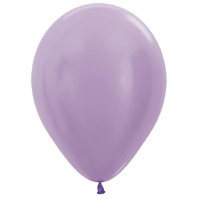 Воздушный шар сиреневый перламутр (30 см)