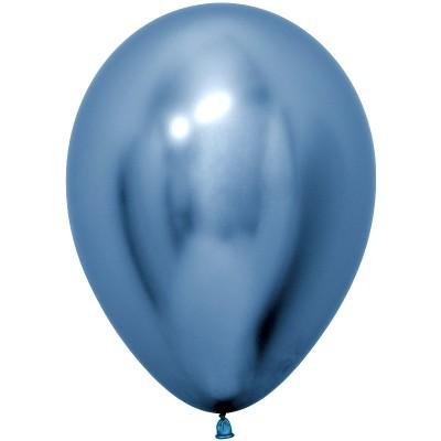 Воздушный шар Reflex зеркальный блеск синий хром (30 см)