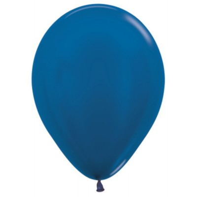 Воздушный шар синий металлик  (30 см)