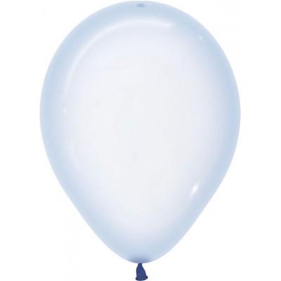 Воздушный шар Макарунс хрустально-голубой кристалл (30 см)