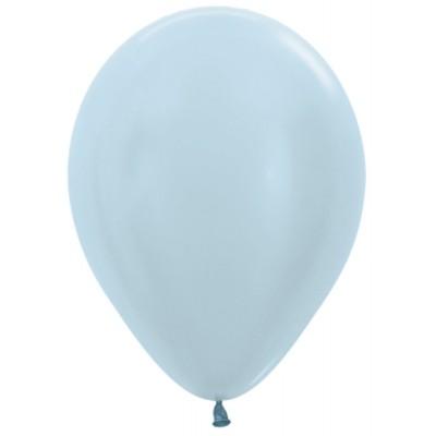 Воздушный шар голубой перламутр (30 см)