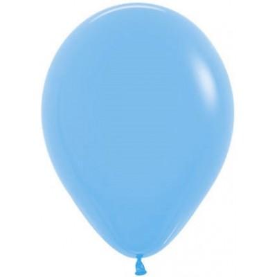 Воздушный шар голубой пастель (30 см)