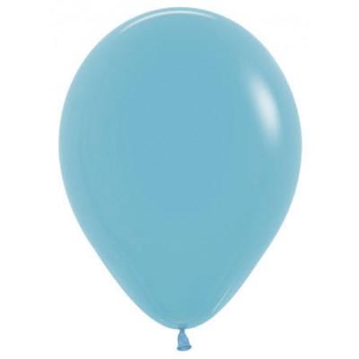 Воздушный шар синяя бирюза пастель (30 см)