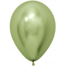 Воздушный шар Reflex зеркальный блеск лайм хром (30 см)