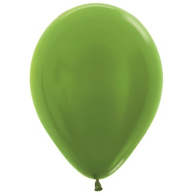 Воздушный шар лайм металлик (30 см)