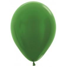 Воздушный шар зеленый металлик (30 см)
