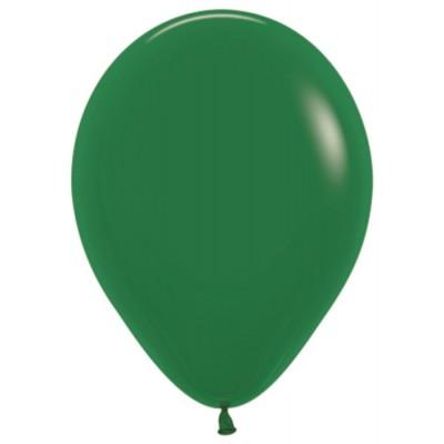Воздушный шар темно-зеленый пастель (30 см)