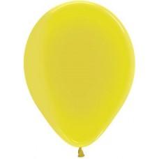 Воздушный шар желтый кристалл (30 см)