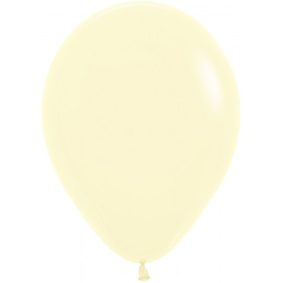 Воздушный шар Макарунс светло-желтый пастель (30 см)