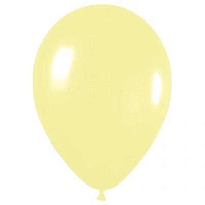 Воздушный шар светло-желтый пастель (30 см)