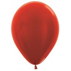 Воздушный шар красный металлик (30 см)
