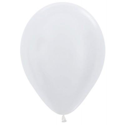 Воздушный шар белый перламутр (30 см)