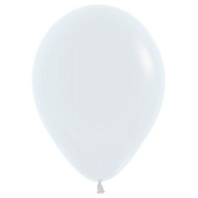 Воздушный шар белый пастель (30 см)