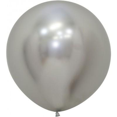 Большой шар Reflex зеркальный блеск cеребро хром (61 см)