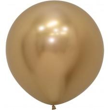 Большой шар Reflex зеркальный блеск золото хром (61 см)