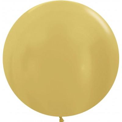 Большой шар золото яркое металлик