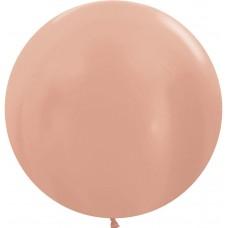 Большой шар розовое золото металлик