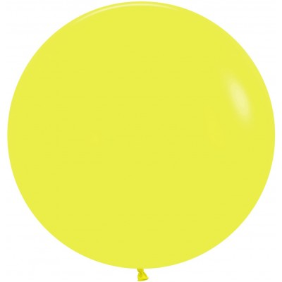 Большой шар желтый пастель
