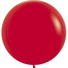 Большой шар красный пастель