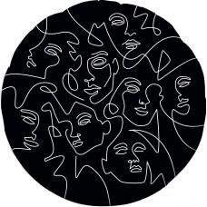 Фольгированный воздушный шар-круг Инверсия абстрактный образ черный (46 см)