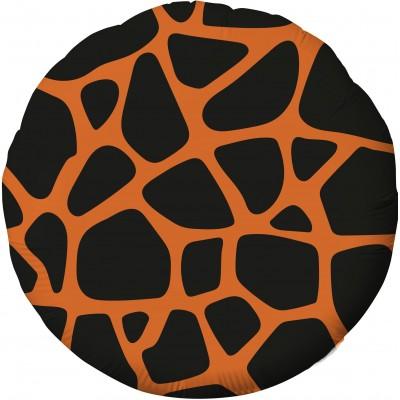 Фольгированный воздушный шар-круг Анималистика пятнистый окрас жираф (46 см)