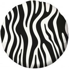 Фольгированный воздушный шар-круг Анималистика пятнистый окрас Зебра (46 см)