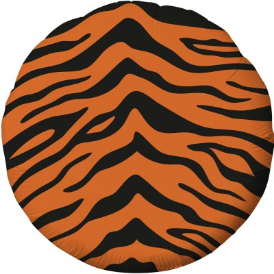 Фольгированный воздушный шар-круг Анималистика пятнистый окрас Тигр (46 см)