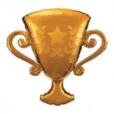 Фольгированный воздушный шар-фигура Кубок золото (104 см)