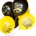 Воздушный шар Вечеринка Emoji черный и желтый пастель (30 см)