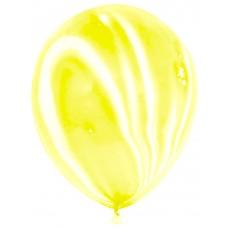 Воздушный шар Мрамор желтый агат (30 см)