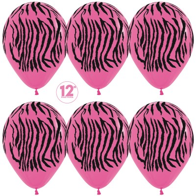 Воздушный шар с окрасом зебры Фуше (30 см)