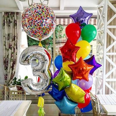 Композиция с шарами с конфетти №4