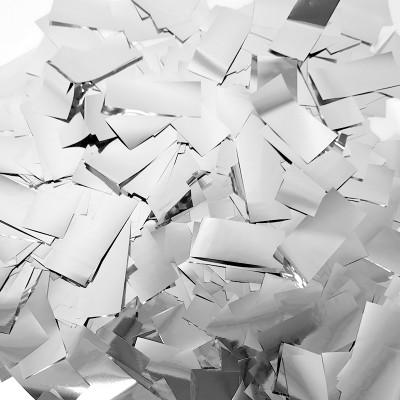 Конфетти фольга Прямоугольники серебряные - 692