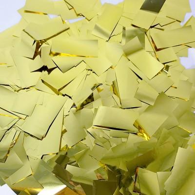 Конфетти фольга Прямоугольники золотые - 690