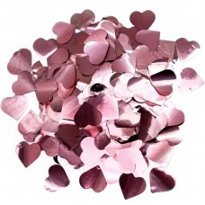 Конфетти фольга Сердца розовое золото - 689