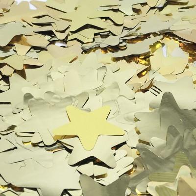 Конфетти фольга Звезды золотые - 687