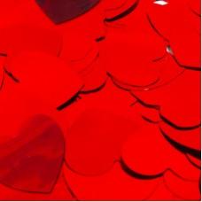 Конфетти фольга Сердца красные - 686