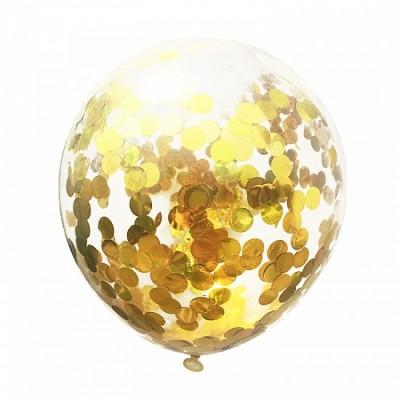 Шар с конфетти Золотые круги