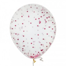 Шар с конфетти Розовые шарики 3D
