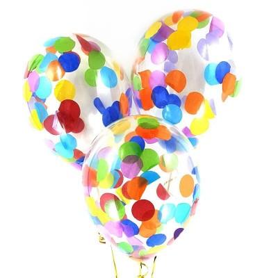 Шар с конфетти Цветные круги