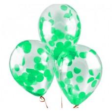 Шар с конфетти Зеленые круги