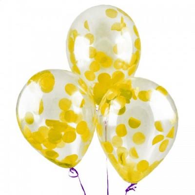Шар с конфетти Желтые круги